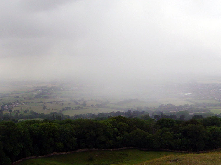 Storm sweeping across Gloucestershire