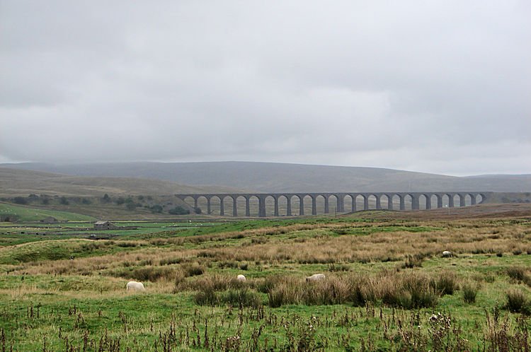 Ribblehead Viaduct seen from Bruntscar