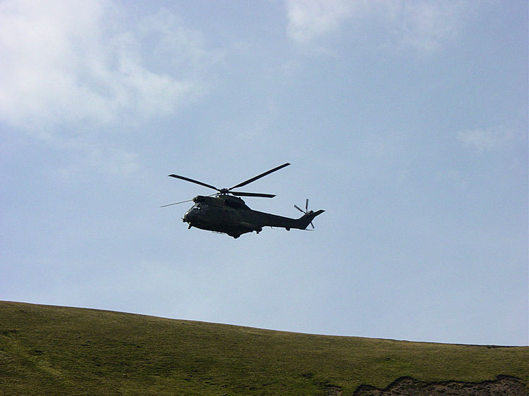 Helicopters broke the silence in Bowderdale