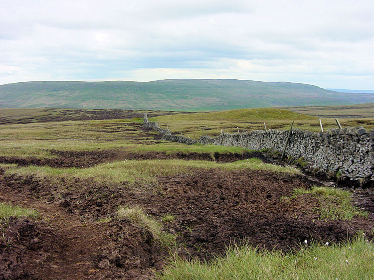 The terrain of Buckden Pike