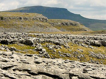 Another view of Pen-y-ghent from Moughton Scars