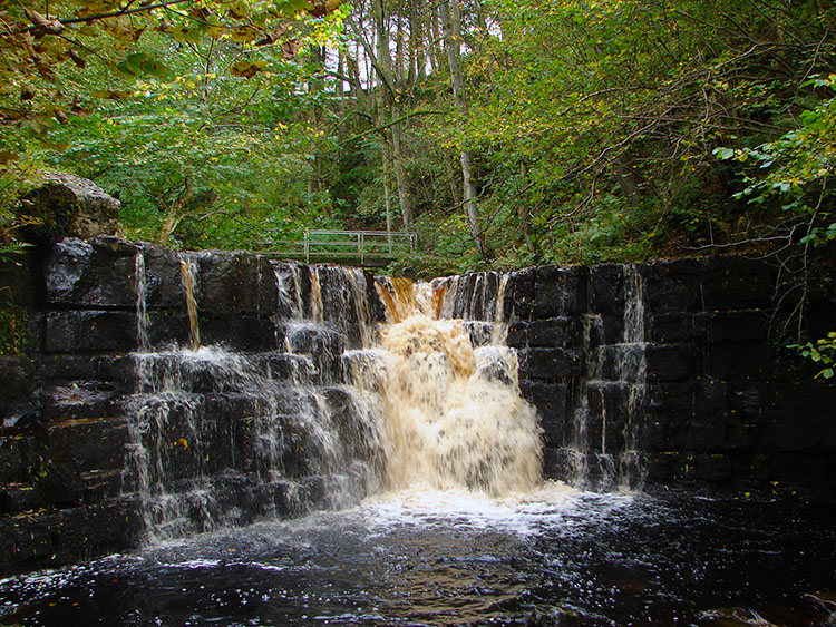A small waterfall downstream of Whitfield Force