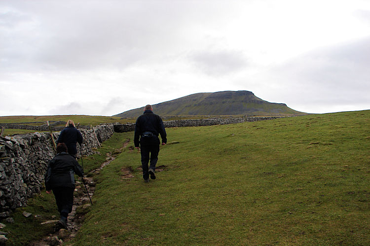 Pen-y-ghent appears in view