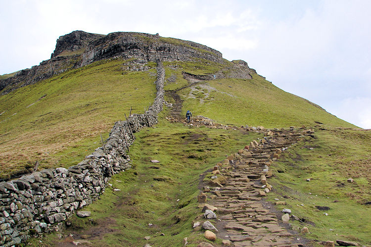 The south face of Pen-y-ghent