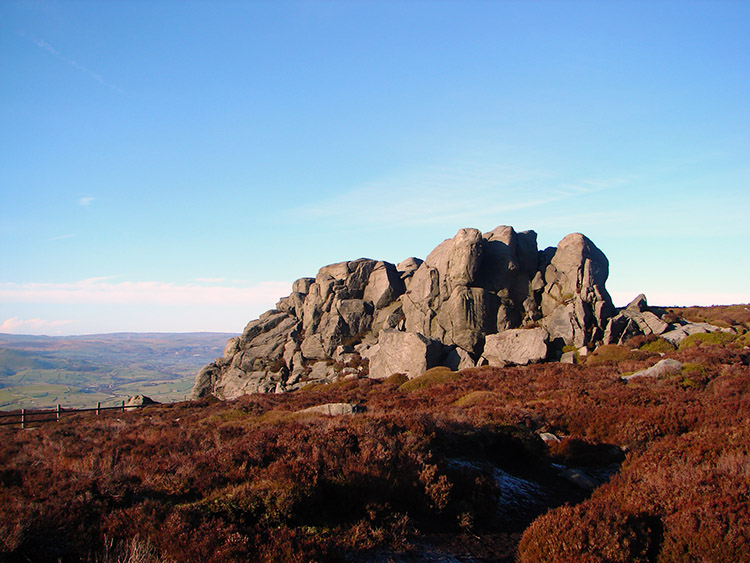 One of the rock monoliths of Simon's Seat