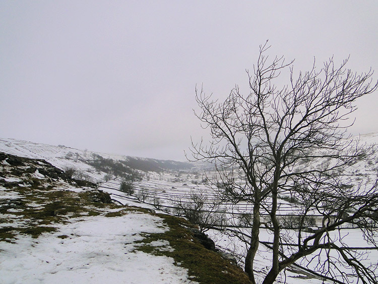 Snow covered Upper Wharfedale