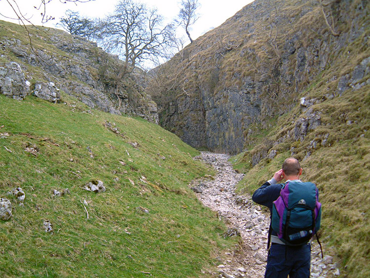 Approaching the fantastic gorge above Coniston
