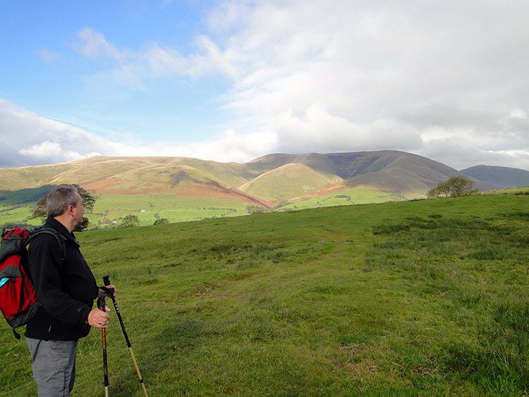 The Howgill Fells appear as we climb from Garsdale