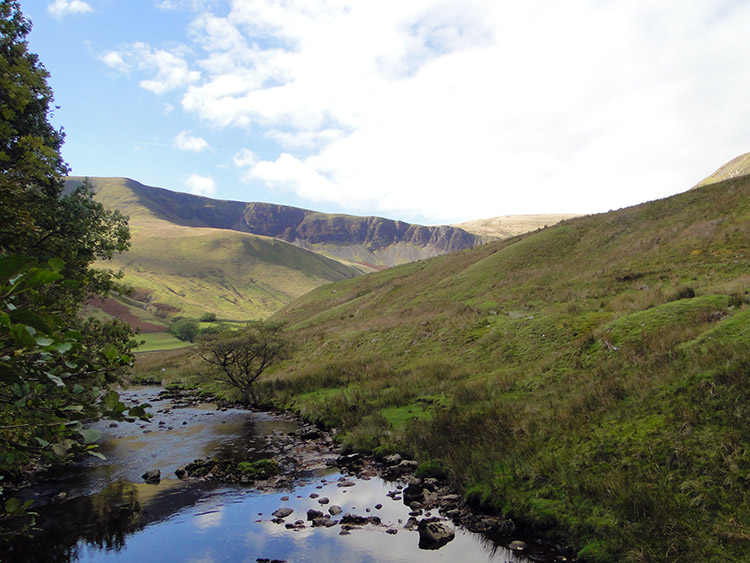 River Rawthey and Howgill Fells near Low Haygarth