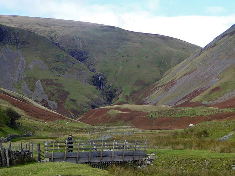 Viewing Cautley Spout from Low Haygarth