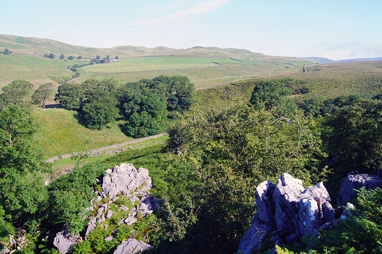 Limestone outcrops on Leck Fell