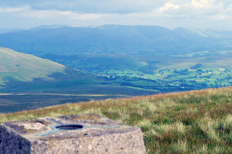 The Howgill Fells as seen from Crag Hill