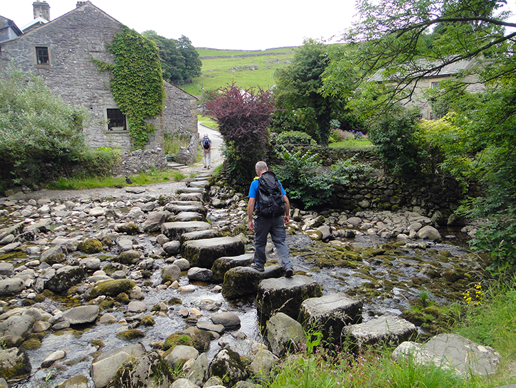 Stepping stones over Stainforth Beck