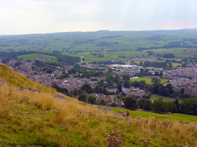 Looking down from Blua Crags to Settle