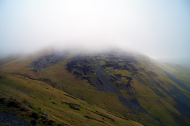 Yarlside, summit covered in cloud