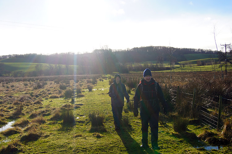 Crossing the field to Kilgram Grange