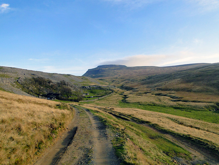 The view to Ingleborough from near Crina Bottom