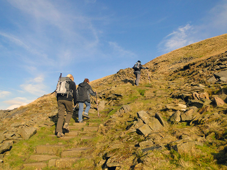 The final ascent to Ingleborough