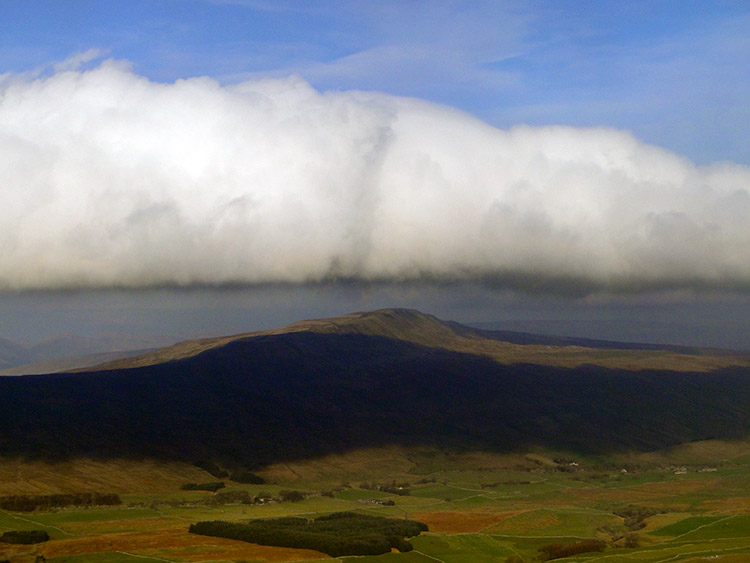 Cloud inversion hanging over Whernside