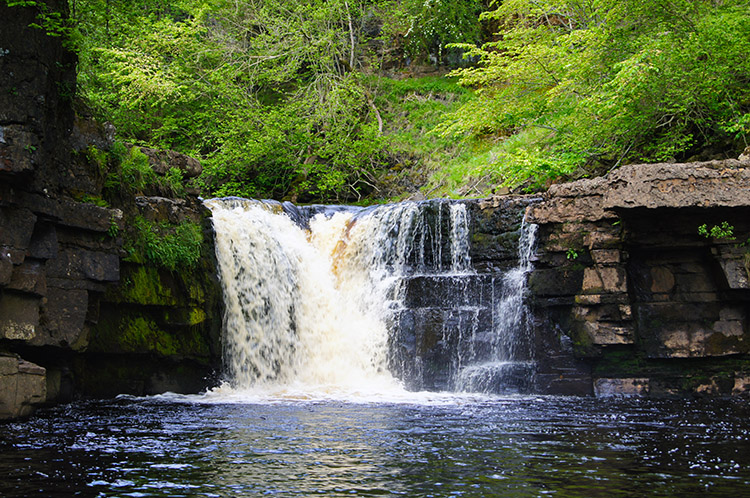 The upper waterfall of Kisdon Force