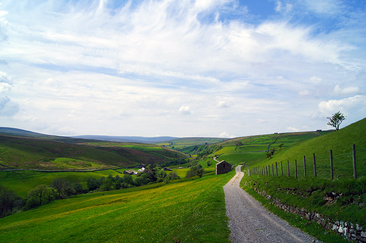 Following the Pennine Bridleway at East Stonesdale