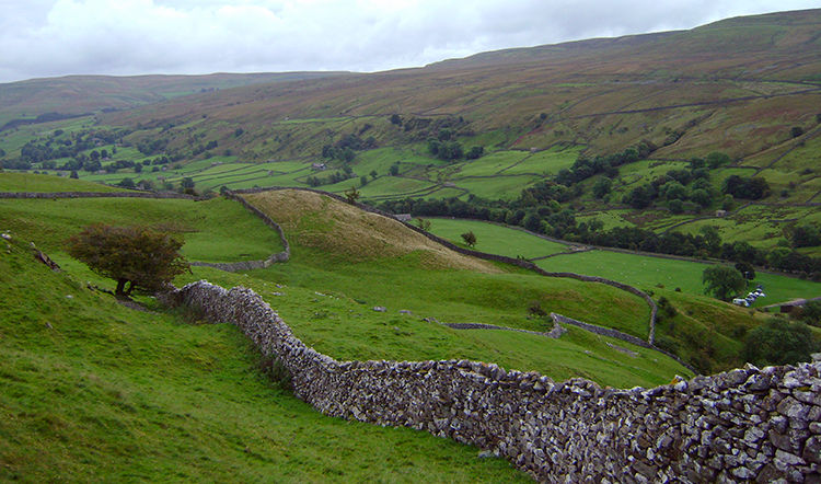 Looking back along Swaledale