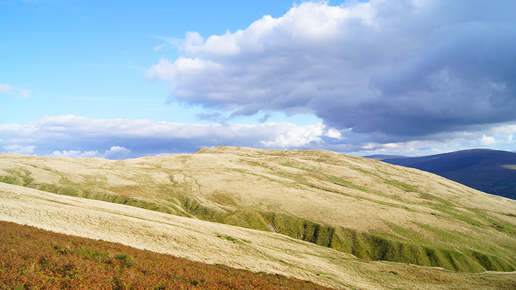 View north-west to Wandale Hill and Harter Fell