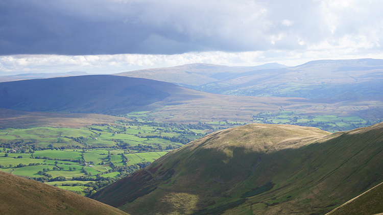 View from Calders to Whernside and Ingleborough