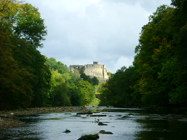 Richmond Castle view from the River Swale