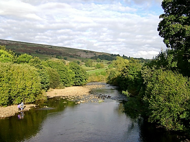 View to the River Swale from Grinton Bridge