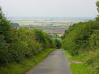 Looking west to rural landscape from Wold View