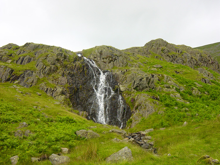 Waterfalls on the approach to Grisedale Tarn