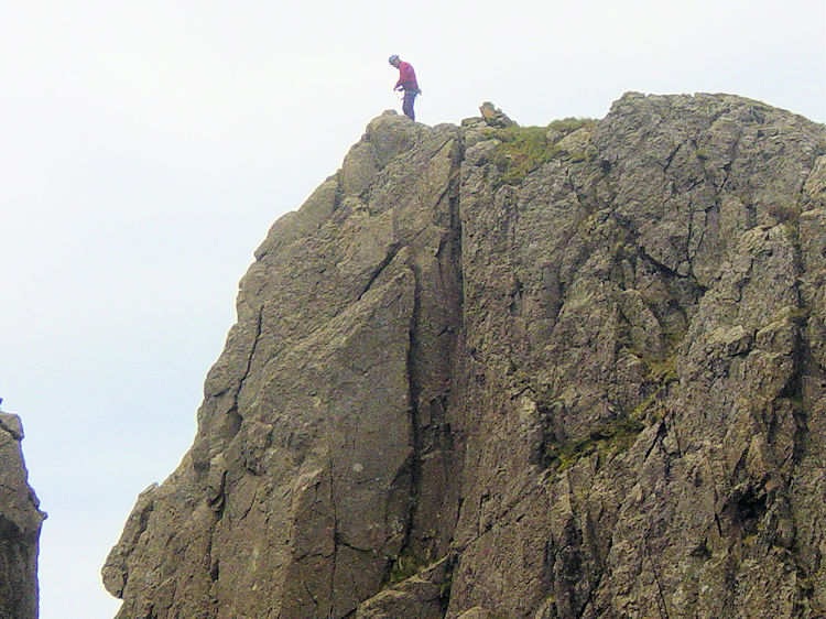 Climber on Pillar Rock