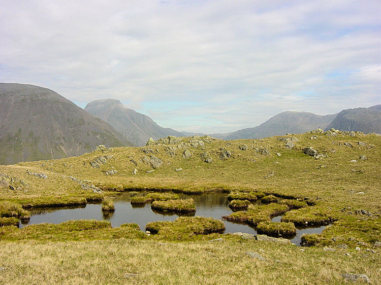 Tarn on the summit of Yewbarrow