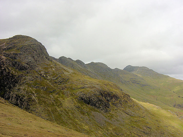 Great Knott with Crinkle Crags beyond