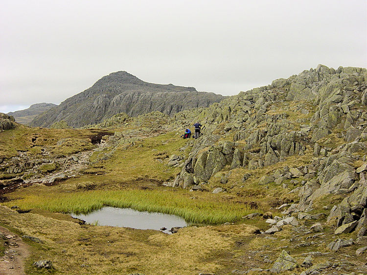 Bowfell as seen from Crinkle Crags
