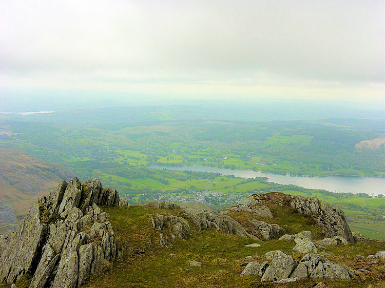 Looking to Coniston Water from Old Man Breast