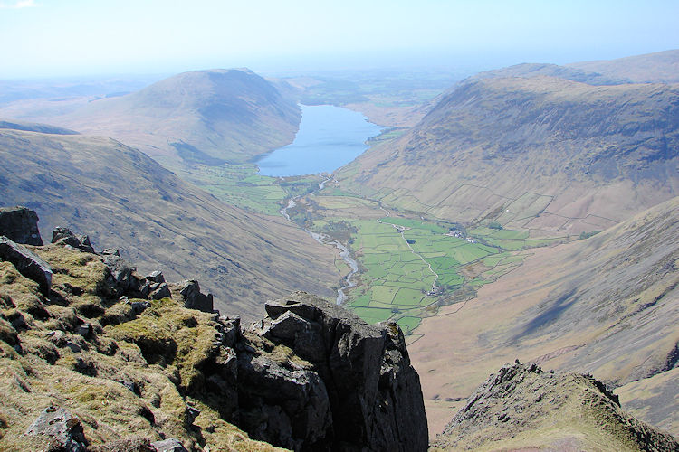 Wast Water and Wasdale as seen from Great Gable