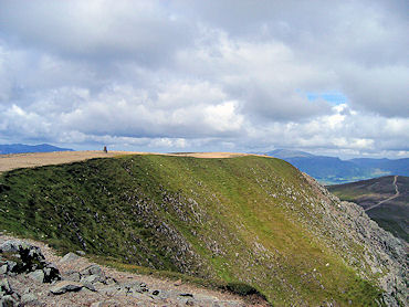 The summit of Helvellyn
