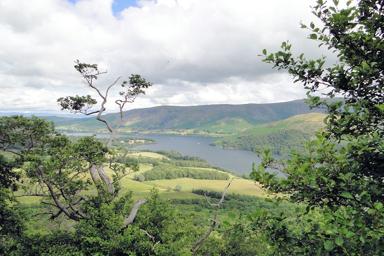 Looking at Ullswater from Memorial Seat
