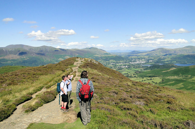 View from Grisedale Pike to Keswick and Derwent Water