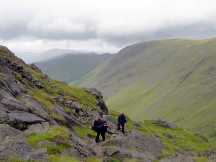 Climbing to the summit of Stony Cove Pike