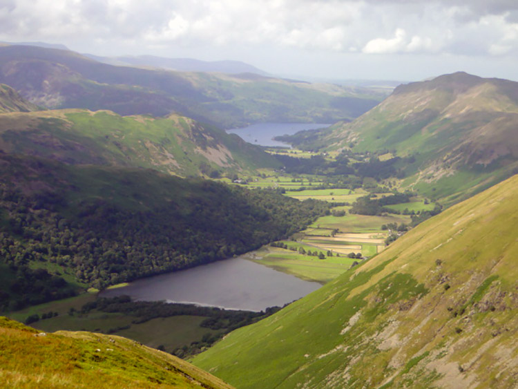 Brothers Water and Ullswater from Caudale Moor