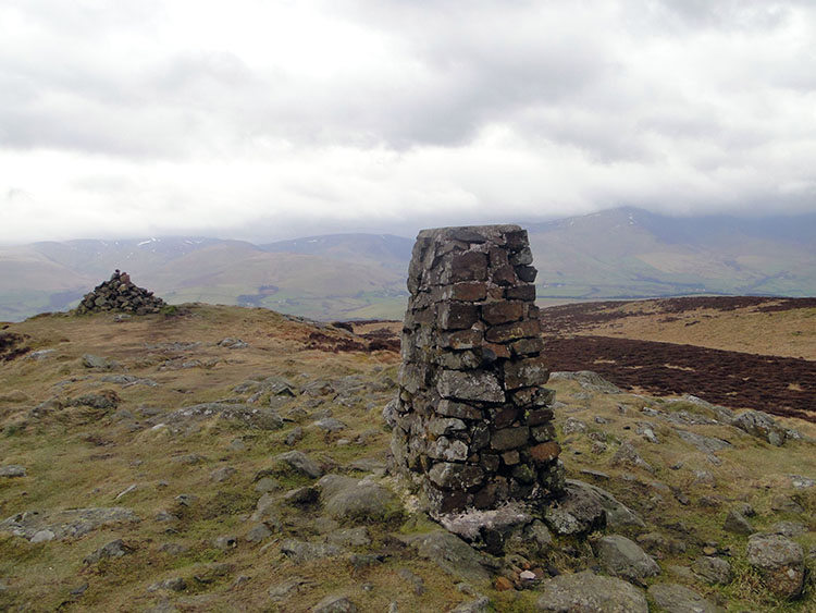 Binsey trig pillar at 447m