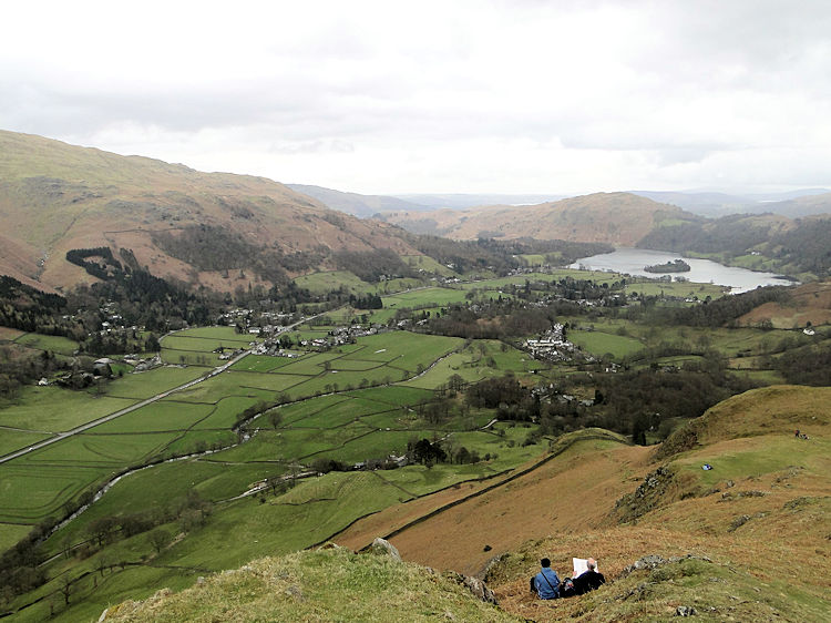 View to Grasmere from Helm Crag