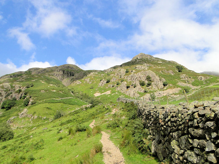 Climbing out of Langdale towards Pike Howe