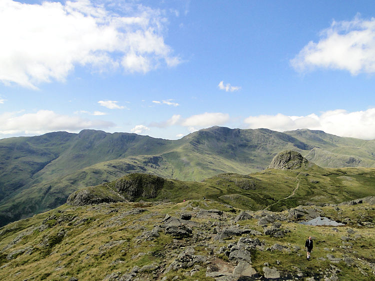 Scafell Pike is directly beyond Pike Of Stickle