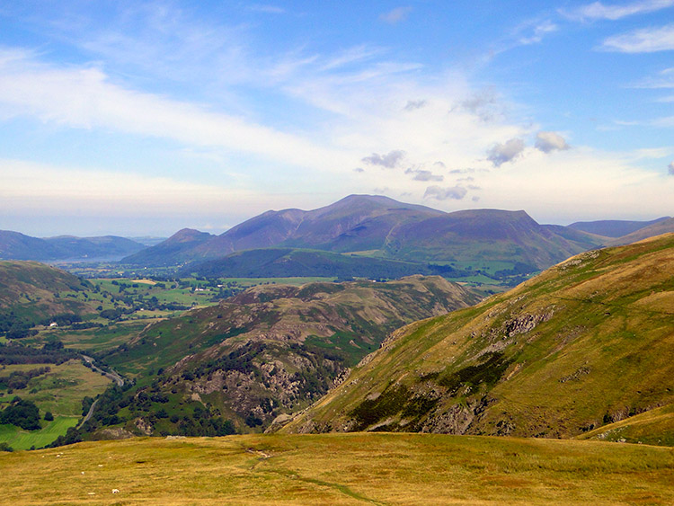 Higher still and Skiddaw is a magnificent sight