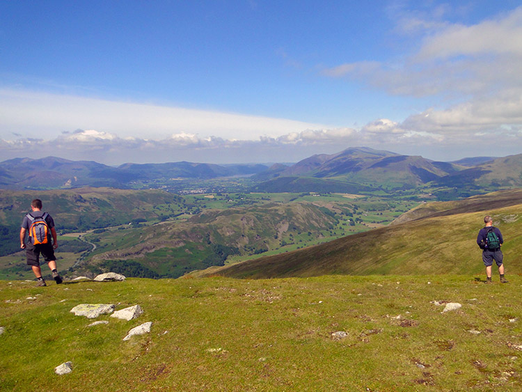 The view north west from Great Dodd to Allerdale