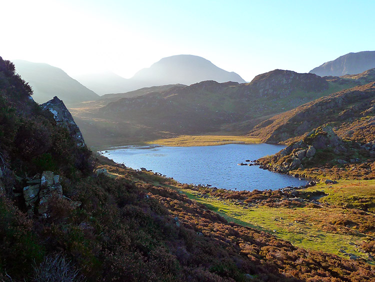 Blackbeck Tarn with Great Gable looming